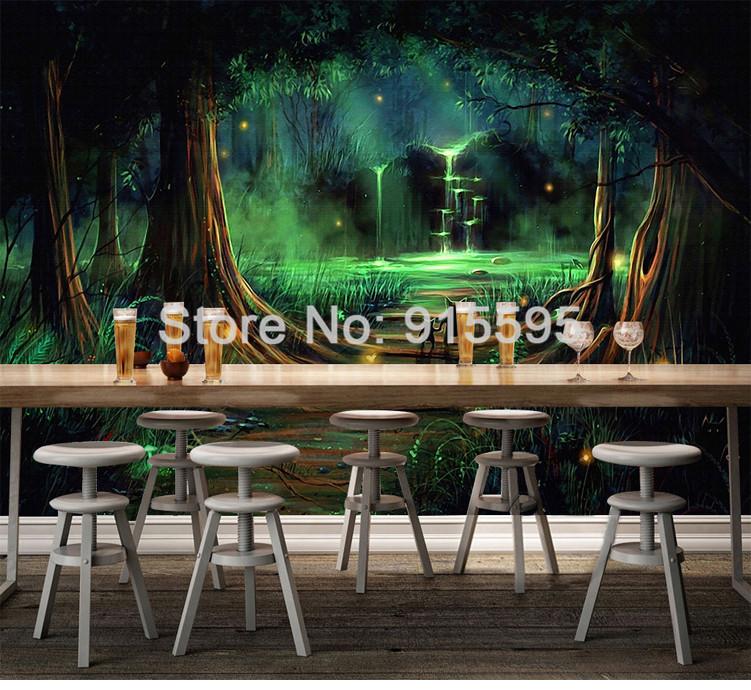 HTB15Ed5QXXXXXcBXpXXq6xXFXXXk - Wall Home Decor Custom Photo Wallpaper 3D Abstract Forest Waterfall Animal Children Room Bedroom Non-woven Wallpaper Murals 3D