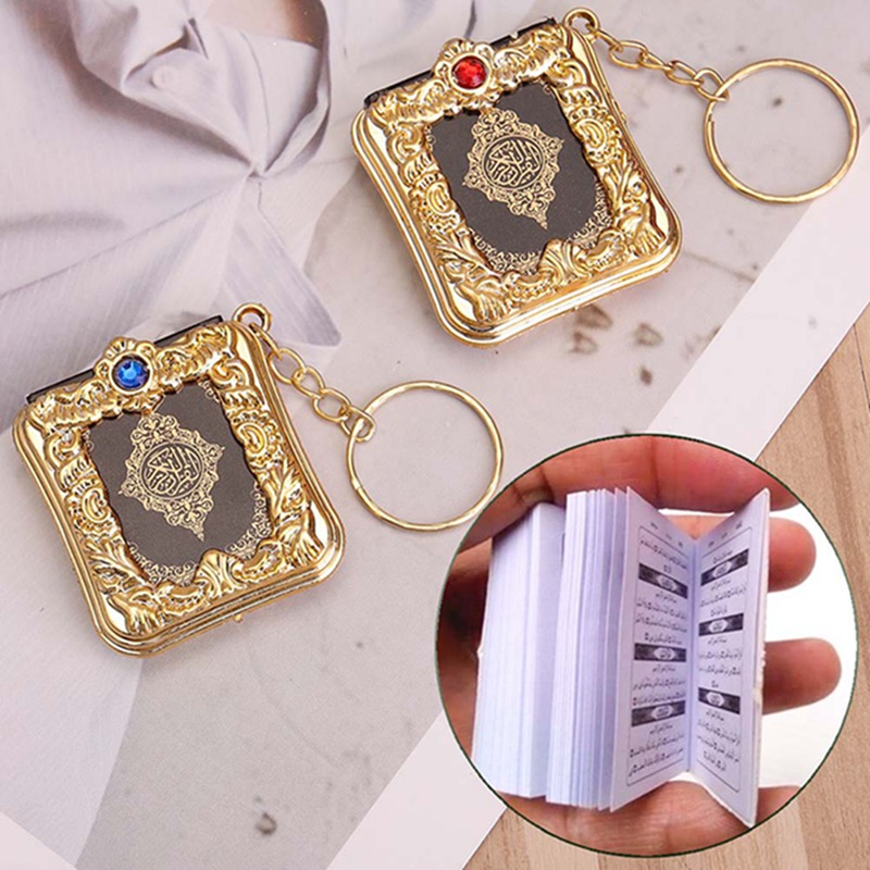 Image 3 - 1Pcs New Muslim Keychain Resin Islamic Mini Ark Quran Book Real 