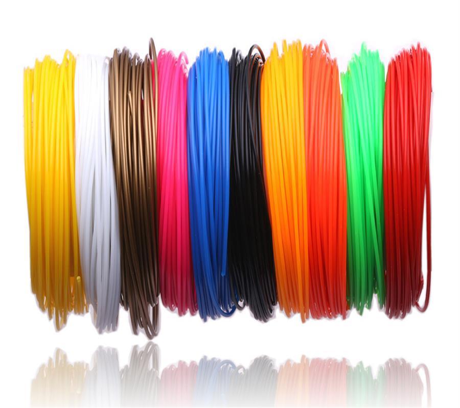 3 D 200 mètre ou 10 mètres/couleur 1.75mm PLA matériel 3D PLA Filament pour stylo 3D plastique 3D stylos fournitures couleur
