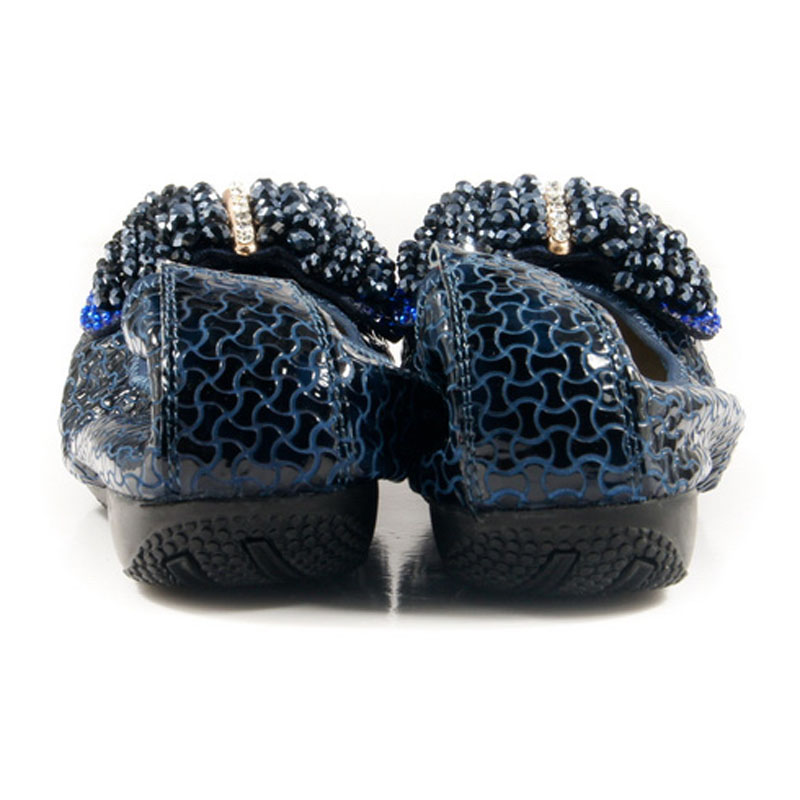 blue Véritable Z390 Strass on Z390 1 Cuir Ballerines Black Arc Femmes beige De Peu Crocodile En black Z390 Mode Slip 2 Luxe Bouche Occasionnels Nouveau Appartements Z390 Profonde qpZc1qy