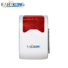 Wireless Strobe Flash Siren 433MHz with LED display the alarm zone number, Long Distance Work And Loud Voice