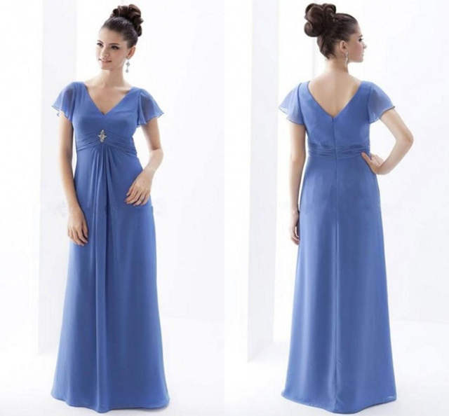 Cheap Chiffon Simple Mother Of The Bride Dresses Plus Size ...