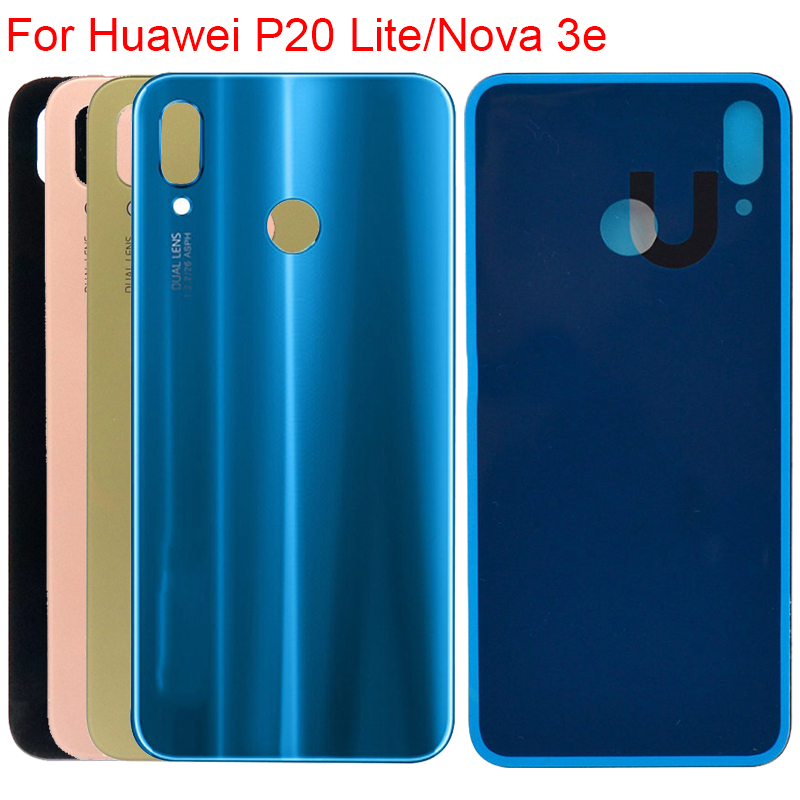 New Housing For Huawei P20 Lite Battery Cover Back Glass Door Housing Case For Huawei Nova 3e/3i Rear Cover Housing Replacement