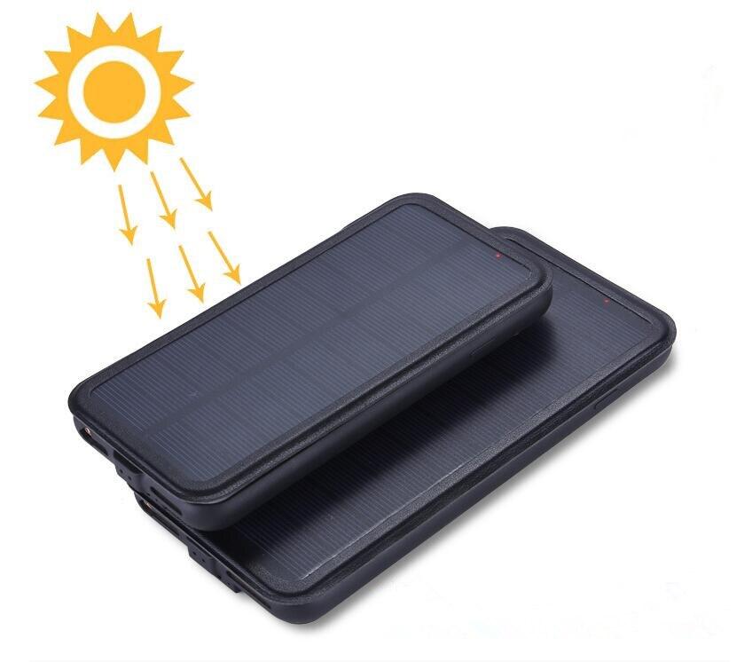 imágenes para 5000 mah caja de batería de energía solar para iphone 6 6s plus iphone 7 plus 5.5 cargador de batería caso banco de alimentación de energía solar