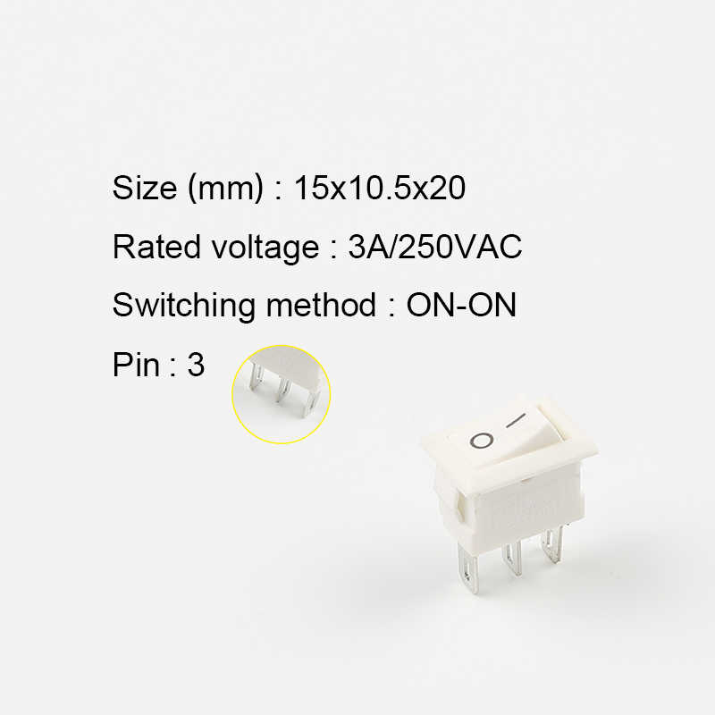 5 Pcs KCD11 Push Button Switch 3Pin On-On/On-Off-On Posisi Mini Perahu Rocker switch 3A/250VAC 15*10.5 Mm Power Switch DIY Anda