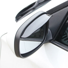 2Pcs Car Rearview Mirror Rain Visor For Honda civic accord crv fit jazz dio city hornet Subaru Forester Outback Legacy XV WRX(China)