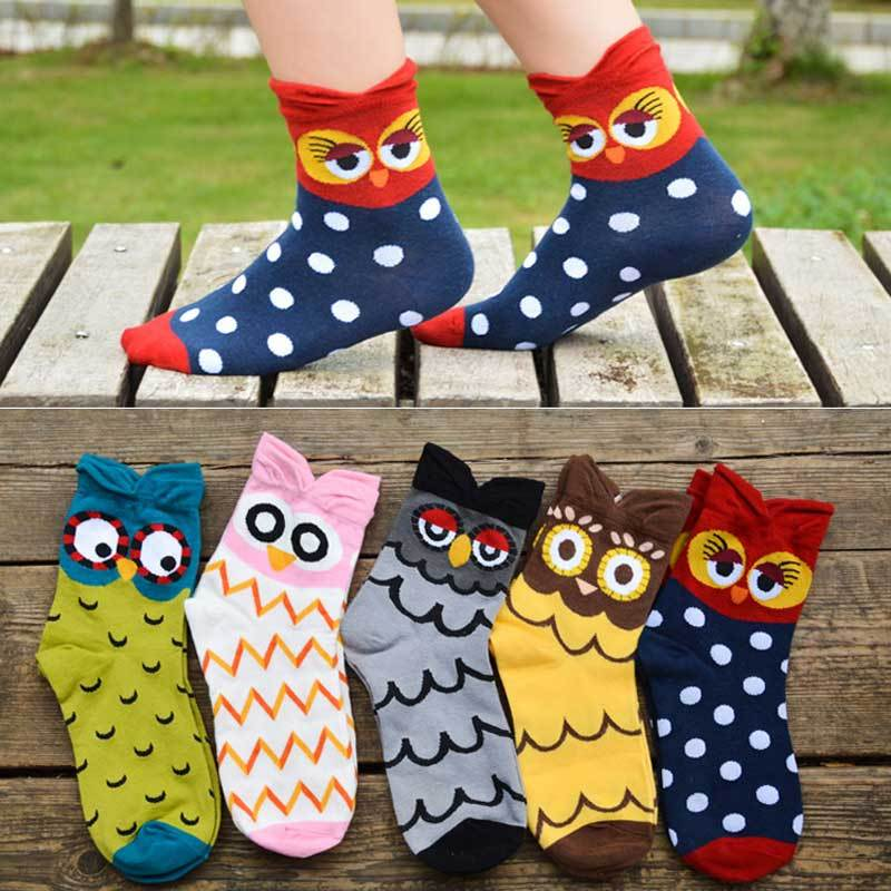 Cartoon Owl   Socks   Women New Arrival 1 Pair Cotton Fall Winter Animal Hot Sale   Socks   Female Fashion Casual Spring Presents   Socks