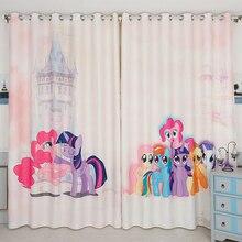Custom Made 2x Grommet Drapery Drape Curtain Nursery Kid Children Room Window Valance Dressing 200 x 260cm Pony Cartoon