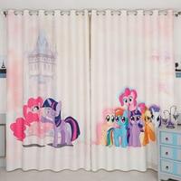 Custom Made 2x Grommet Window Drapery Curtain Nursery Kid Children Room Window Valance Dressing Tulle 200 x 260cm Pony Cartoon