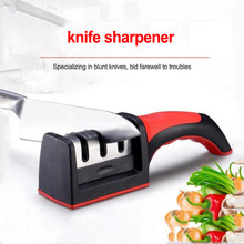 Knife Sharpener 3-stages Professional Kitchen Sharpening device Tungsten Steel Ceramic Kitchen Knives for fruit knife ect. 1pc(China)