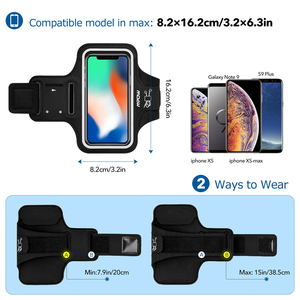 Image 5 - Mpow Sport Gym Armband Case For iPhone X Adjustable Running Arm Band On Hand Smartphone Cell Phones Hand Bag For iPhone Case