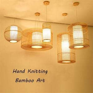 Image 3 - Modern Bamboo LED Living Room Pendant Lights Hotel Lobby Restaurant Loft  Lamp Lighting Bedroom Teahouse Hanging Lamp Luminaire