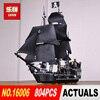 LEPIN 16006 804pcs Pirates Of The Caribbean The Black Pearl Building Blocks Set 4184 Lovely Educational