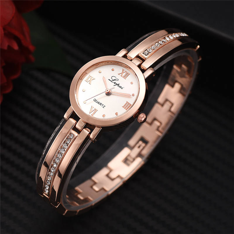 European And American Small Watch Diamond Strap Alloy Ladies Watch