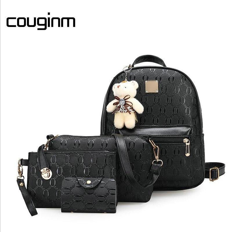 Backpack, COUGINM, Leather, Fashion, Bag, Teenage