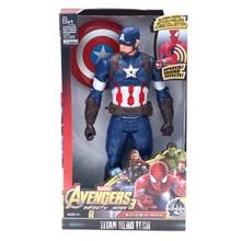 Marvel Super Heroes Avengers Thanos Black Panther Captain America Thor Iron Man Spiderman Hulkbuster Hulk Action Figure 12″ 30cm