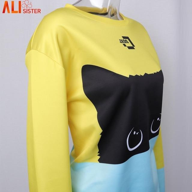 Cute Cat Hoodies 3D Sweatshirt Women  4