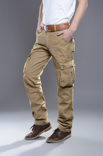 Men's Plus Size High Quality Cargo Pants Casual Male Pant Multi Pocket Military   Overall Outdoors Long Trousers