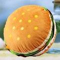 Personalidad cojín decorativo creativo hamburguesa simulación cojín 40x40 cm mullido cojín