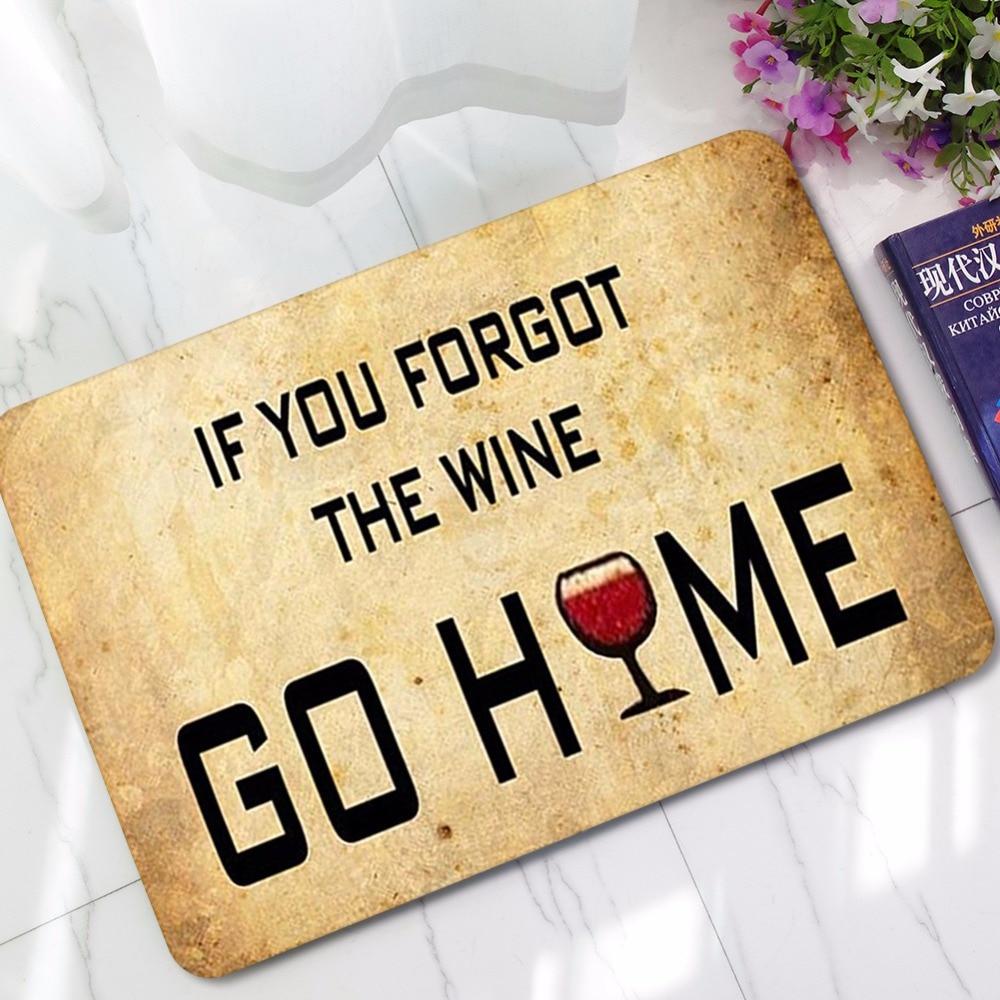 CAMMITEVER Citazione Se Avete Dimenticato Il Vino Andare A Casa Zerbino di Benvenuto antiscivolo Tappeti Da Cucina Tappetini Moquette