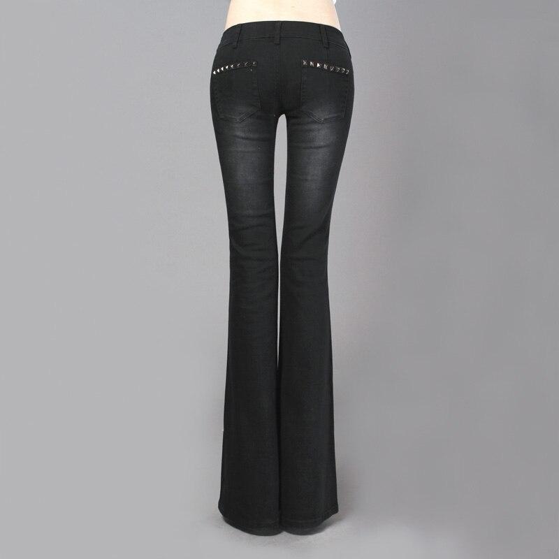 Freies Verschiffen 2019 Neue Mode Lange Hosen Für Frauen Boot Cut Schwarz Vintage Hosen Jeans Hosen Niedrige Taille Flare Hosen 25 32 größe-in Jeans aus Damenbekleidung bei  Gruppe 3
