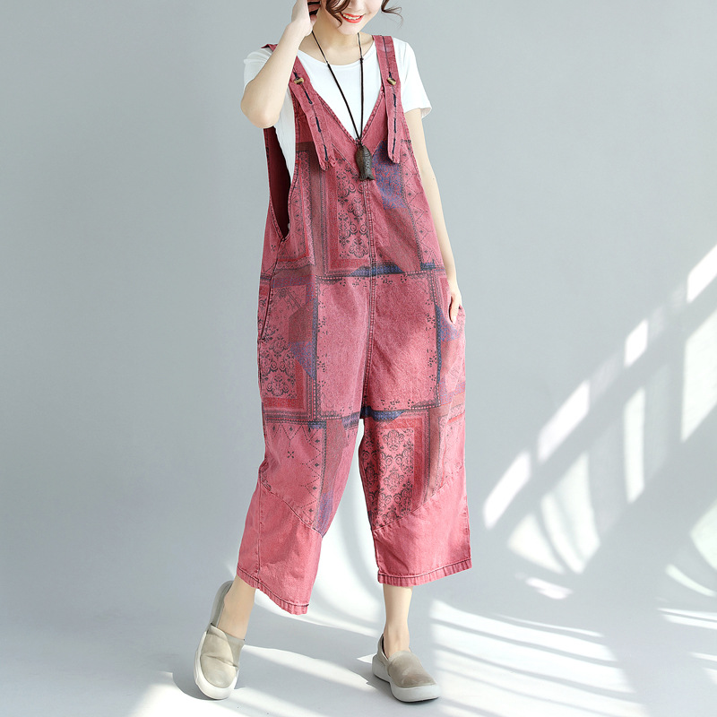 Humor Semir Elegant Sexy Jumpsuits Women Sleeveless Jumpsuit Loose Trousers Wide Leg Pants Rompers Holiday Leotard Overalls Online Discount Women's Clothing Jeans