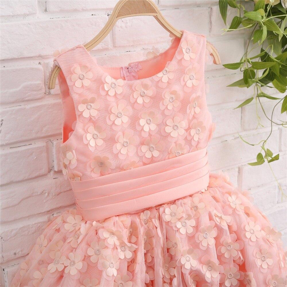 Aliexpress Buy Lovely Pink Flower Girl Dresses Pageant Ball