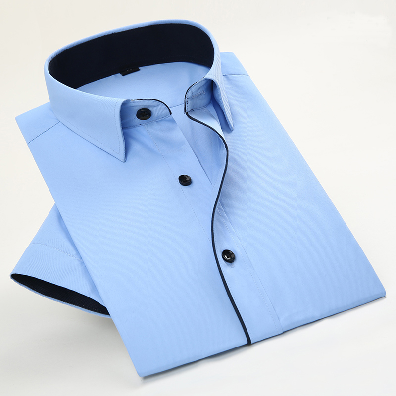 2017 New Arrival Brand Men's Twill Short Sleeve Dress Shirts Business Formal Shirts For Men Fashion Clothes