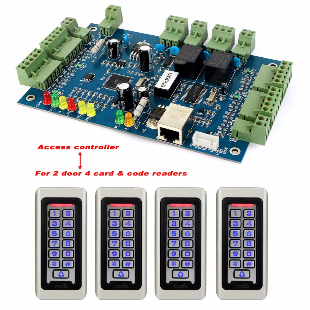 TIVDIO Keypad Door Access Control System Wiegand TCP/IP Network Entry Double Access Controller Panel Access Control Board F9501D