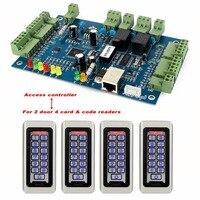 Tivdio дверной Система контроля доступа wiegand tcp/ip входа в сеть двойной Управление доступом; Панель Управление доступом доска f9501d