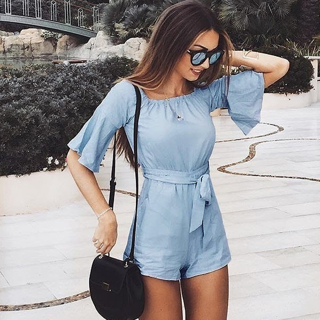 9d5cae5ae707 Jumpsuit Women Rushed New Arrival Cotton Catsuit Body 2018 Spring And Summer  Explosion Models Solid Color Casual Short Jumpsuit