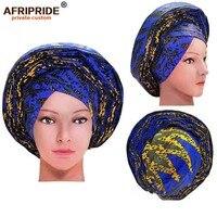 2019 african fashion head wrap for women AFRIPRIDE bazin richi handmade 100% cotton wax print women head wrap A19H001