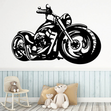 Cartoon Style Motorcycle Home Decor Modern Acrylic Decoration Nursery Kids Room Wall Murals