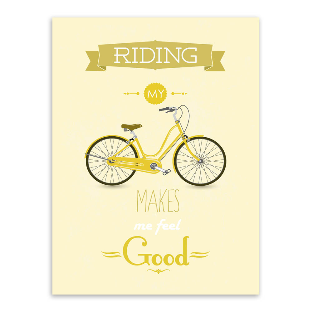 Modern Inspirational Bike Bicycle Quotes Typography Poster Print ...