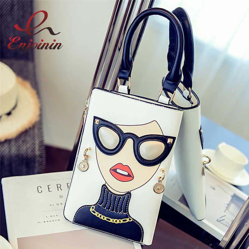 fdb23dbf7bc7 Новая стильная пикантная Женская мода узор серьги украшенные женские сумки  через плечо сумка повседневная сумка