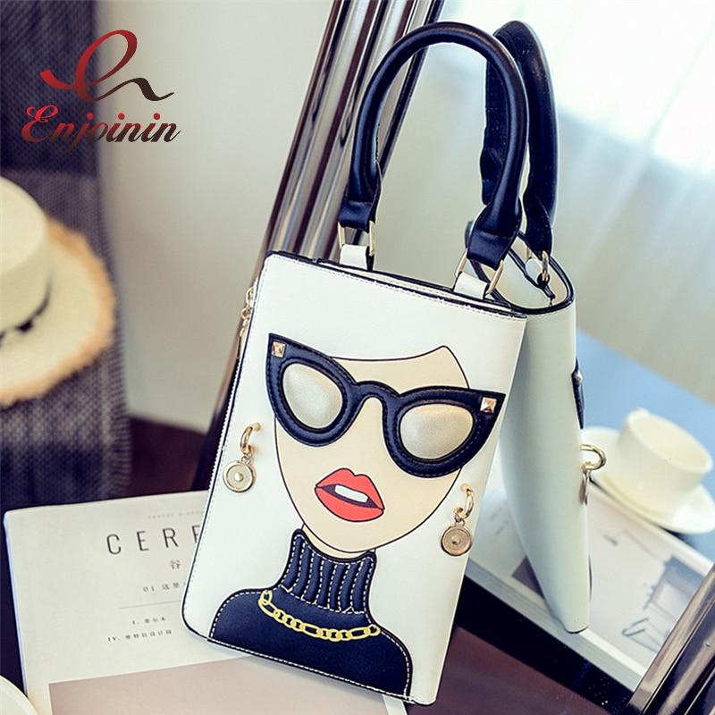 New Style Sexy Woman Fashion Pattern Earrings Decorated Female Totes Ladies Shoulder Bag Crossbody Messenger Bag Casual Handbag недорго, оригинальная цена
