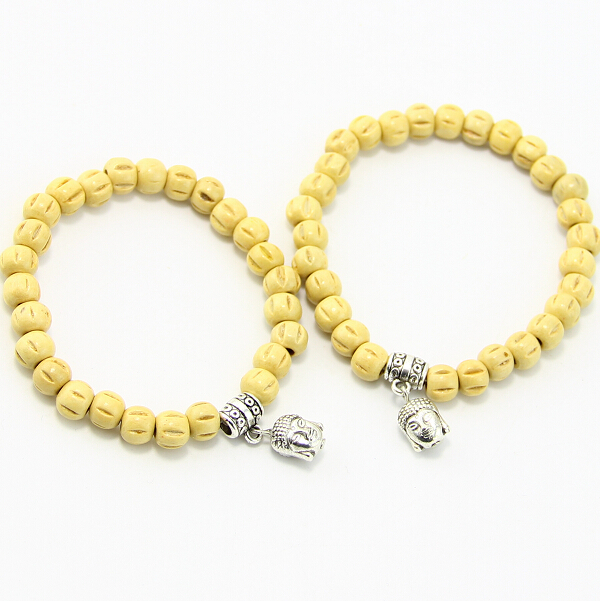FATONG BB0153 High quality Buddha head bracelet, natural wooden bead bracelet engraved gifts for men and women !