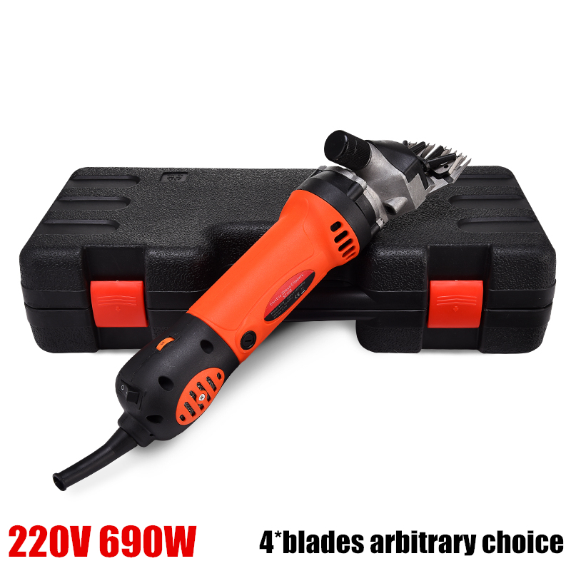 US and EU plug 220V 690W Electric Shearing Machine For Sheep/Sheep Goat Clipper,13 teeth or 9 teech 4 blades arbitrary choice new 680w sheep wool clipper electric sheep goats shearing clipper shears 1 set 13 straight tooth blade comb