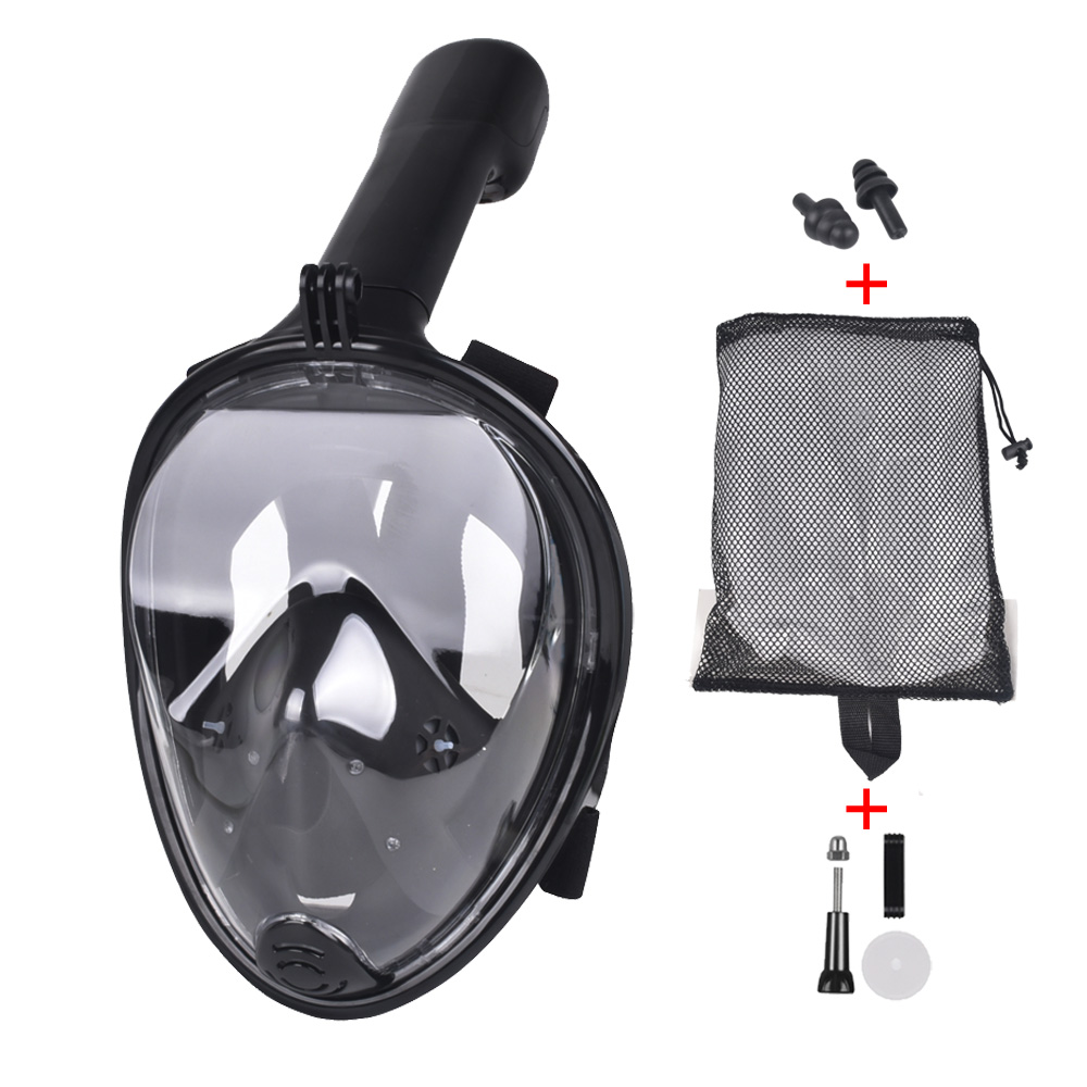 2018 New Underwater Scuba Anti Fog Full Face Diving Snorkeling Mask Set Respiratory masks Safe and waterproof For Gopro Camera image