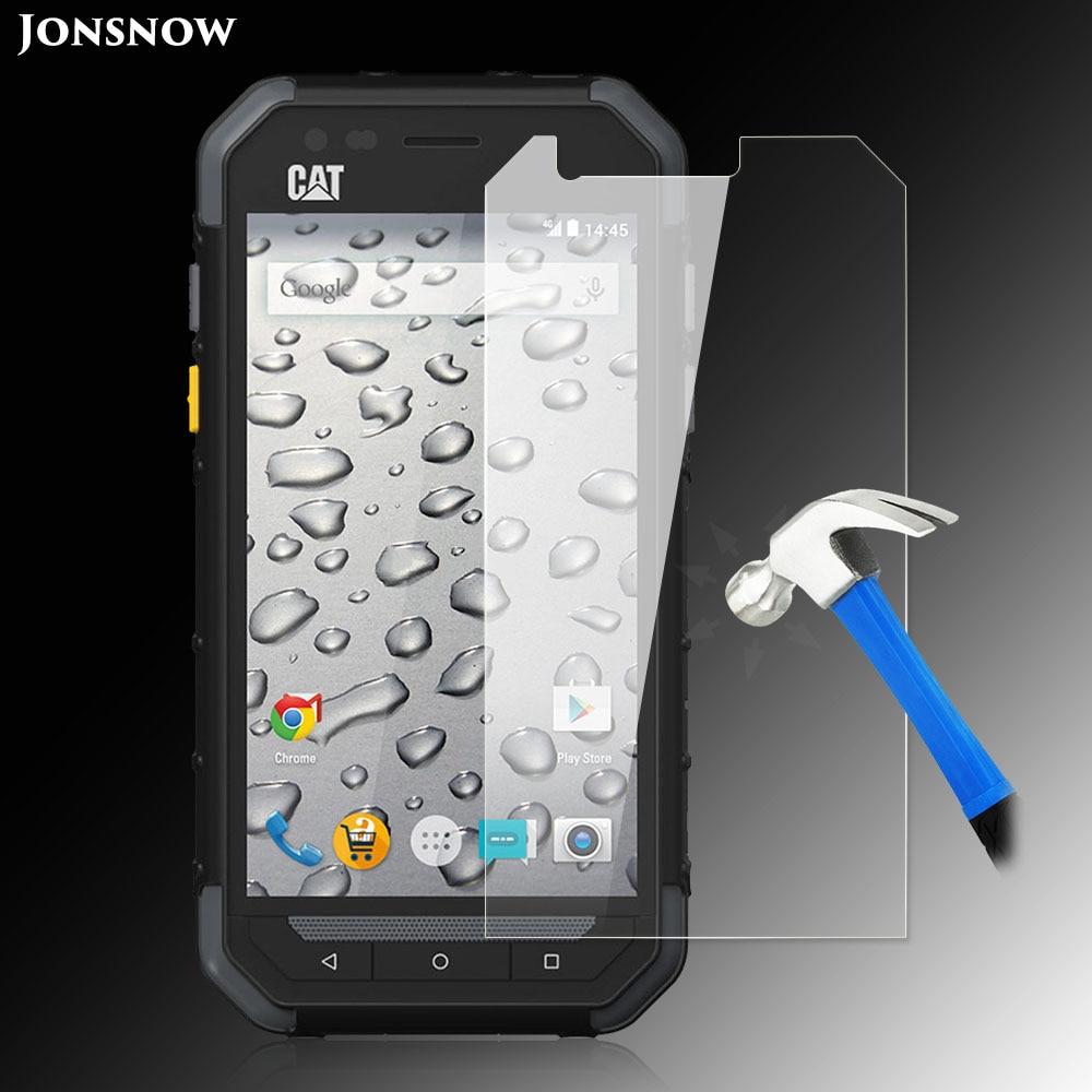 Jonsnow vidro temperado para gato s30 lcd protetor de tela qualidade 9 h à prova de explosão película protetora pelicula de vidro