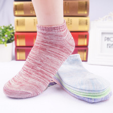 5 Colors Candy Color Women Socks Short Ankle Boat Low Cut Socks Solid Casual New Cotton Socks Hosiery 1Lot/5Pairs