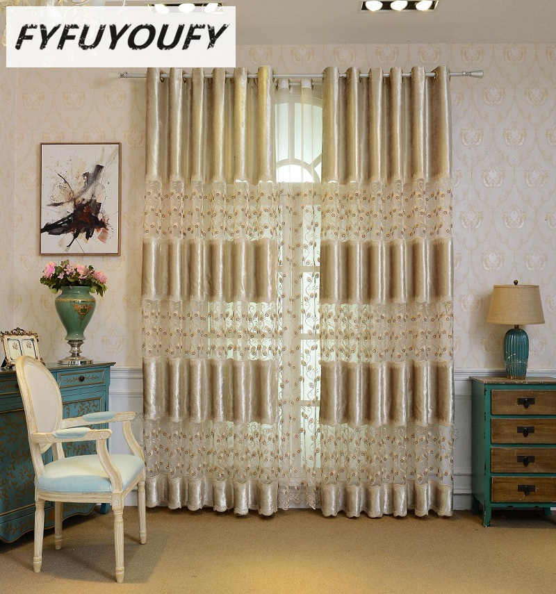 US $16.02 51% OFF Luxury Europe embroidery Blackout curtain For the living  Room /Bedroom Curtain Styles Window Blinds for Kitchen Voile Curtain-in ...