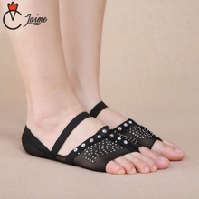 Professional Ballet Flats Belly Dancing Foot Toe Pad 1 Pair Sequins foot Protector Dance Accessories