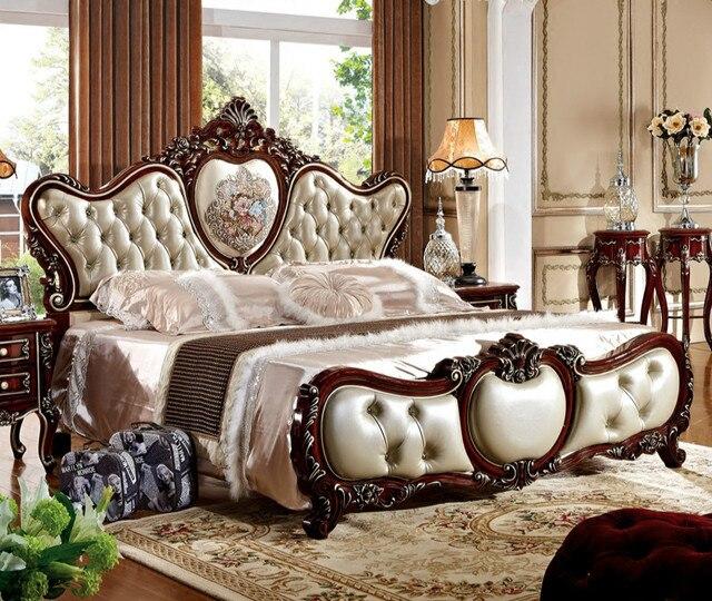18 mtres lit double franais en cuir nouvelle de mariage lit princesse lit mobilier de chambre - Lit De Princesse
