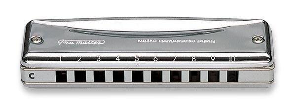 SUZUKI MR 350 Harmonica Pro Master Valved Diatonic Harmonica 10 Hole Blues Key of C