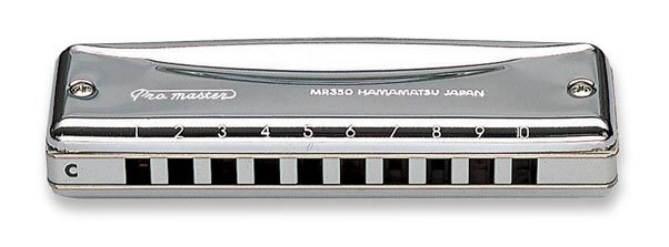 SUZUKI MR-350 Harmonica Pro Master Valved Diatonic Harmonica 10 Hole Blues Key Of C