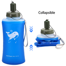 2 Pack 750ml Soft Hydration Flask Ultralight Outdoor Camping Hiking Foldable Water Bottle Compact Collapsible Water Bag цена и фото