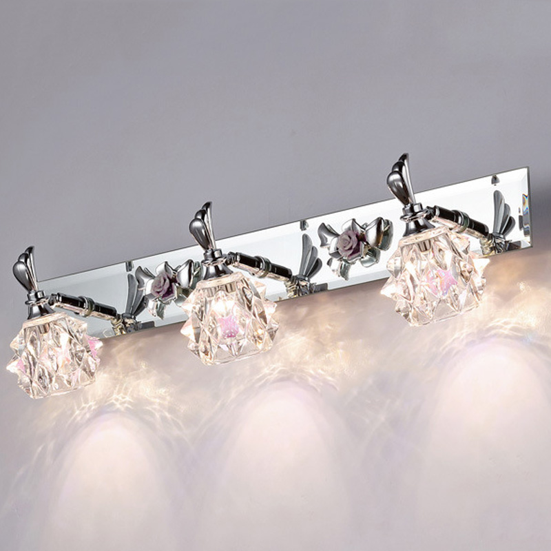 Objednejte si nástěnné světlo dvojité barvy bílé / žluté LED zrcadlové světlo Mini styl bílé LED moderní otočné nástěnné lampy Lampada