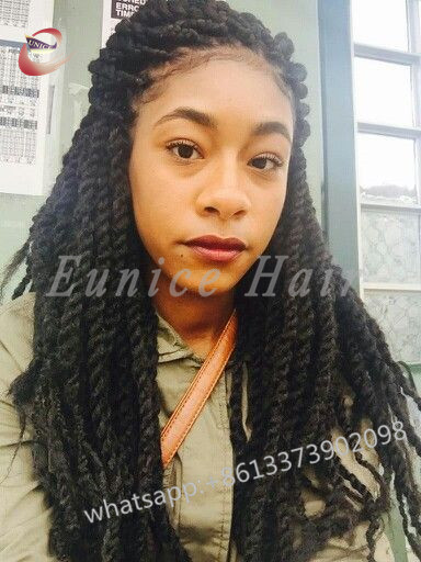 African Jumbo Twist Crochet Black Braids Short Hair,Havana ...