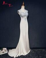 Jark Tozr 2018 New Special Soft Satin Mermaid Evening Dresses Vestido De Festa Appliques Beading Alibaba